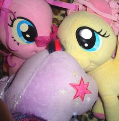 character:fluttershy character:pinkie_pie character:twilight_sparkle toy:build-a-bear toy:plushie // 1868x1907 // 285.0KB