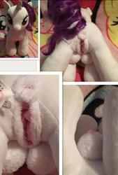anus artist:furrysale character:rarity crotchboobs sph toy:build-a-bear toy:plushie vagina // 542x800 // 108.9KB