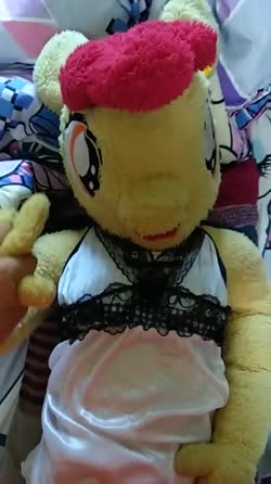 anthro character:apple_bloom creator:redjin5 holding_hand male no_audio sex toy:plushie vertical_video video // 404x720 // 1.8MB