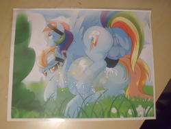 character:lightning_dust character:rainbow_dash cum cum_on_paper cum_tribute herm // 4320x3240 // 2.3MB