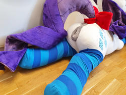 anus bow character:rarity custom_plush dock lifesized socks sph tailbow toy:plushie vagina // 2016x1512 // 500.1KB