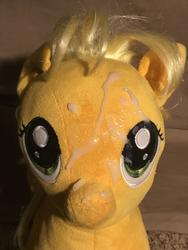 character:applejack creator:jamesw69 cum cum_on_plushie toy:build-a-bear toy:plushie // 3024x4032 // 1.3MB