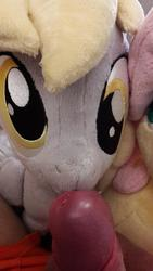 character:derpy_hooves character:fluttershy creator:sluttyshy male penis precum toy:plushie // 1836x3264 // 363.0KB