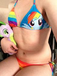 bra character:rainbow_dash character:spike female panties toy:build-a-bear toy:plushie // 960x1280 // 133.1KB