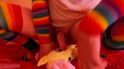 anal character:fluttershy creator:sluttyshy male masturbation no_audio penis quality:480p socks toy:bad_dragon toy:build-a-bear toy:chance_the_stallion toy:dildo toy:plushie video // 852x480 // 9.8MB