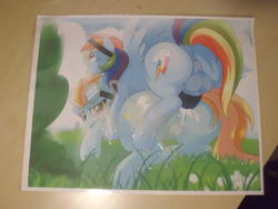 character:lightning_dust character:rainbow_dash cum cum_on_paper cum_tribute herm // 4320x3240 // 2.2MB