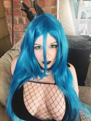 character:queen_chrysalis cosplay female fishnet // 1350x1799 // 642.3KB