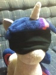blindfold character:twilight_sparkle creator:jin toy:plushie // 720x960 // 216.9KB