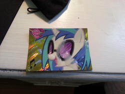 character:vinyl_scratch cum cum_on_paper toy:trading_card // 3264x2448 // 1.6MB